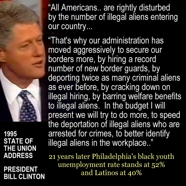 Bill Clinton on illegal aliens